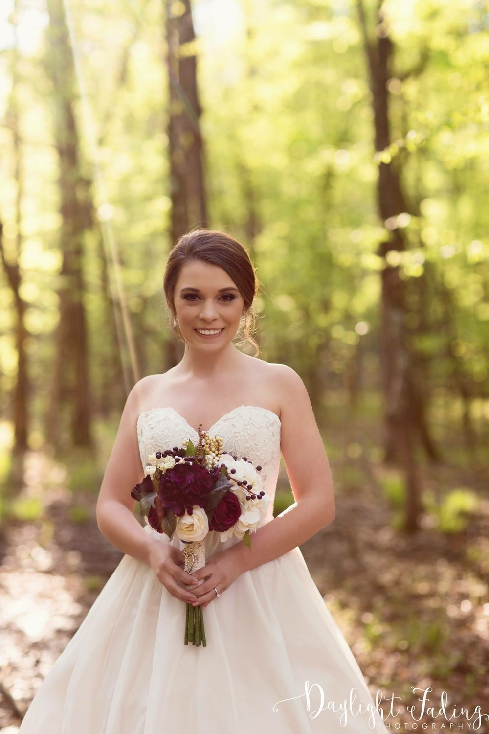 Kristi's Bridal Portraits at Rock Chapel in Carmel, Louisiana - daylightfadingphotography.com
