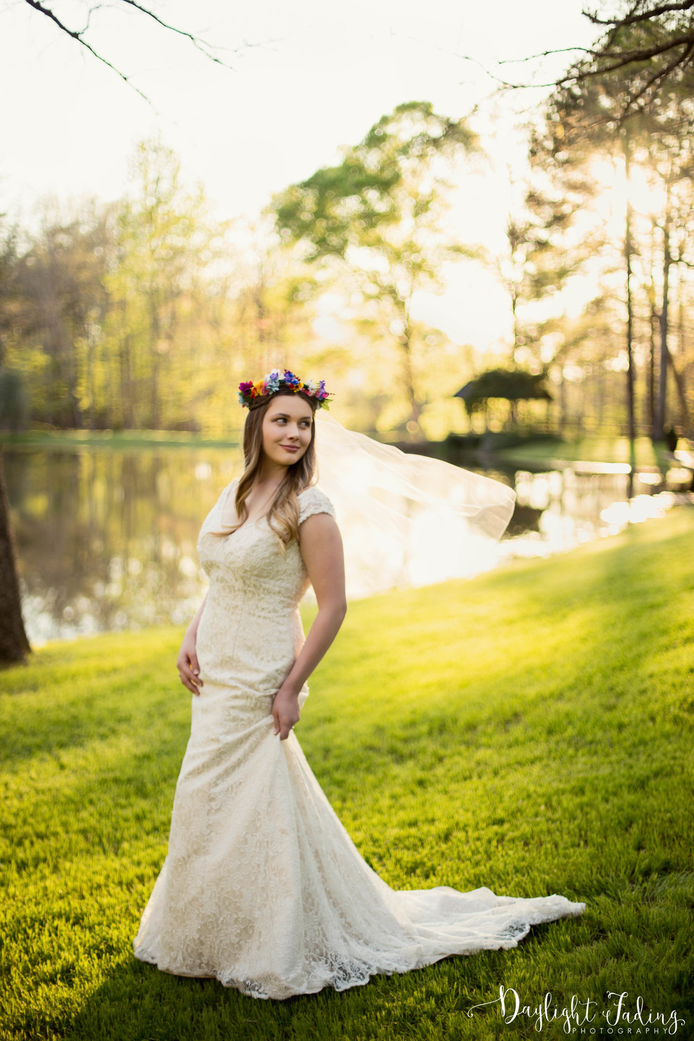 Bridal Wedding Photographer Creekwood Gardens Simsboro Ruston Louisiana - daylightfadingphotography.com