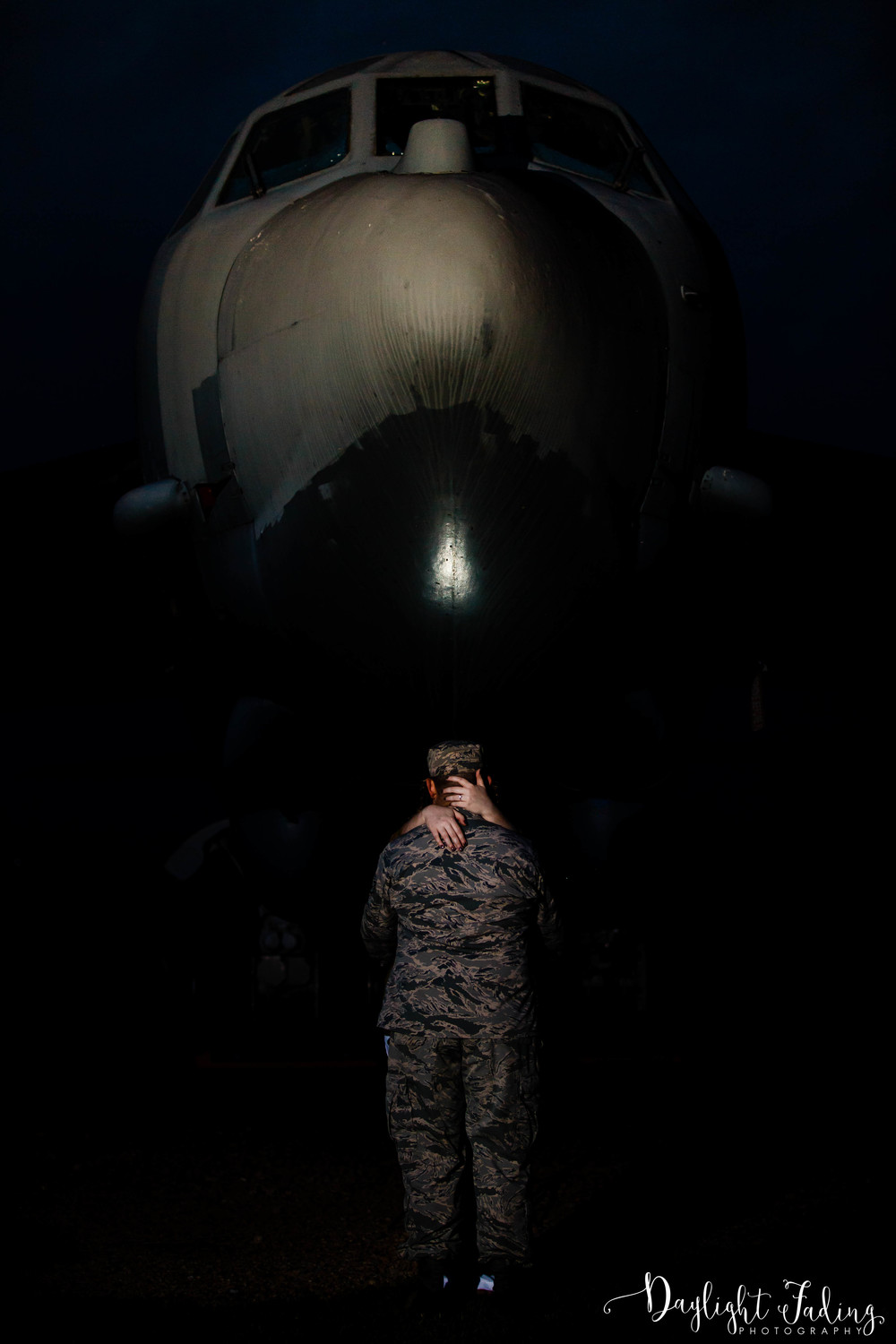 Military Engagement Photo at Barksdale Air Force Base in Bossier City, Louisiana - daylightfadingphotography.com
