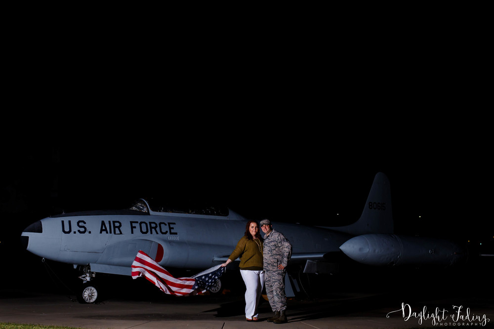 Engagement Photos at Barksdale Air Force Base in Bossier City, Louisiana - daylightfadingphotography.com