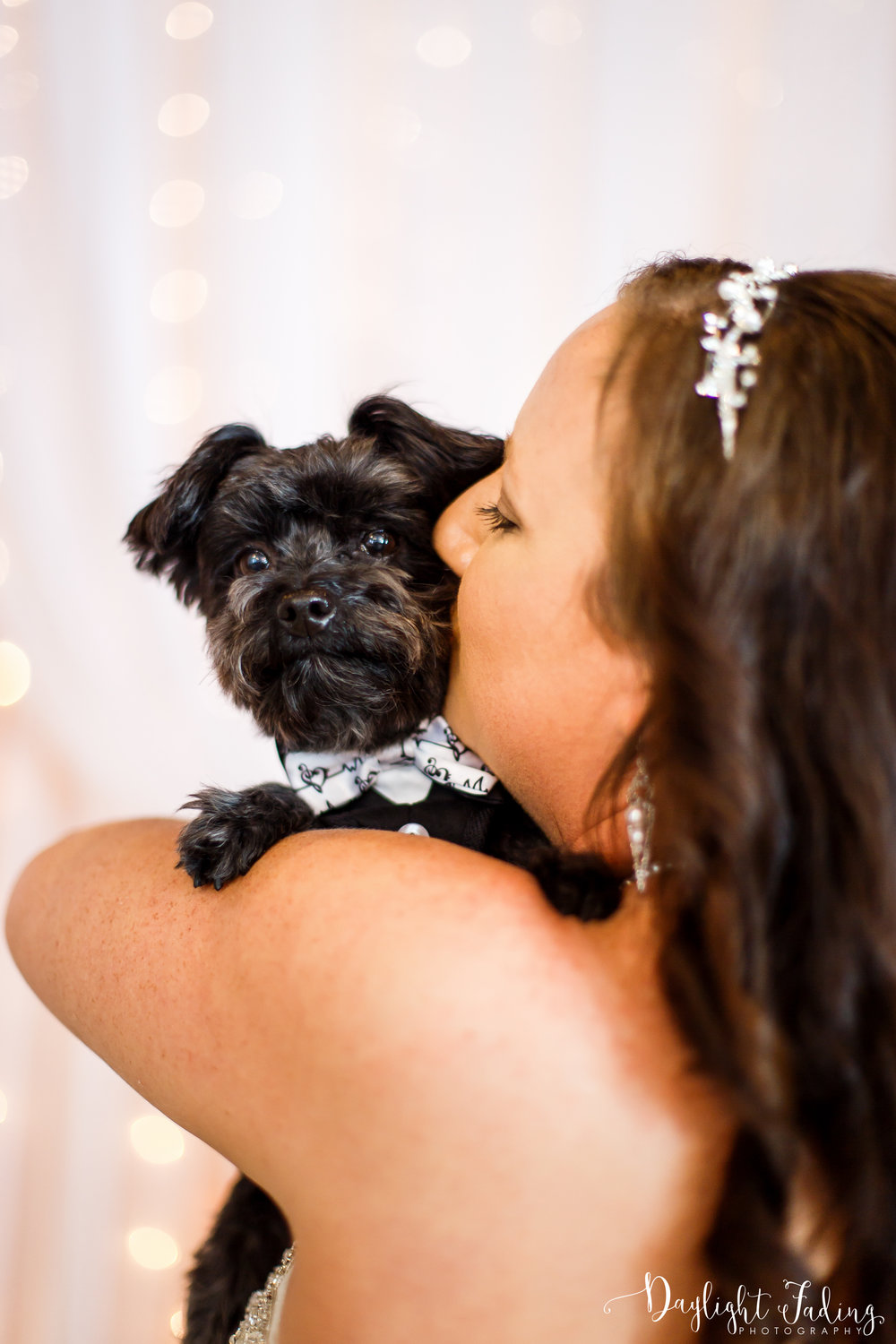 Bride and Dog Ring Bearer in Benton Louisiana Wedding Photographer - daylightfadingphotography.com