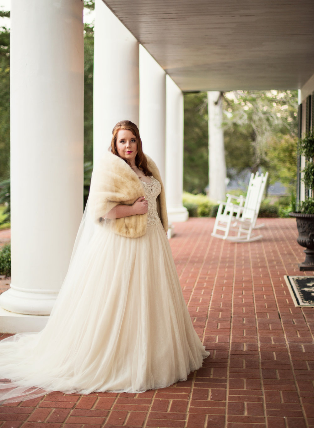 Southern Bride at CedarCroft Plantation