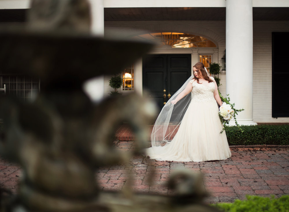 Bridal Portraits at CedarCroft Plantation near Shreveport - daylightfadingphotography.com