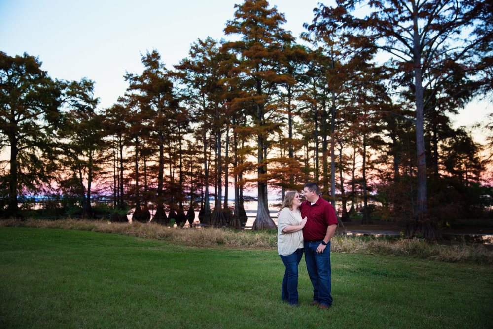 Engagement Photos at Cross Lake - Shreveport, Louisiana