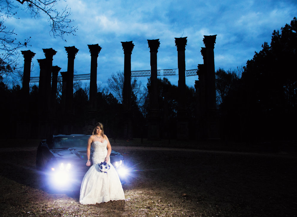 Bridal Portrait at Windsor Ruins in Port Gibson, Mississippi - Louisiana wedding photographer - daylightfadingphotography.com