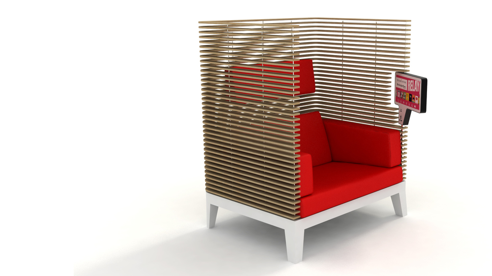 Internet connected lounge chair.