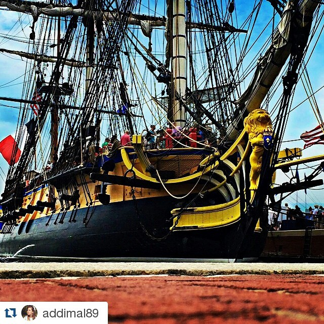 #Repost @addimal89 ・・・ Watched the #Hermione sail into the Inner Harbor this morning with much cannon fire and French sailors breaking into song. I felt like I was in some nautical version of #LesMis 😝🇫🇷 @HermioneVoyage #HermioneVoyage #baltimore #doyouhearthepeoplesing #tallships #innerharbor #ships #friday