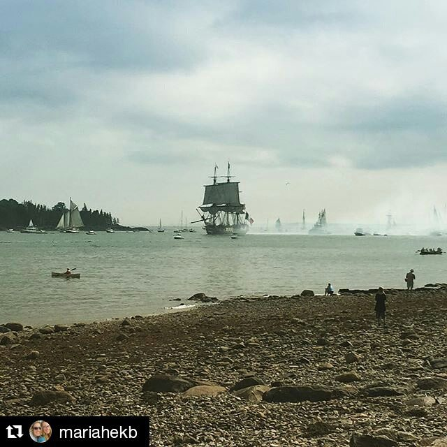 Today is your last chance to see the #Hermione in #CastineME before she heads to Canada. Public tours are being given until 4 PM. @mariahekb ・・・ Hermione sailing into Castine harbor! My first parade of sail viewed from land... #missingtallships #hermione2015