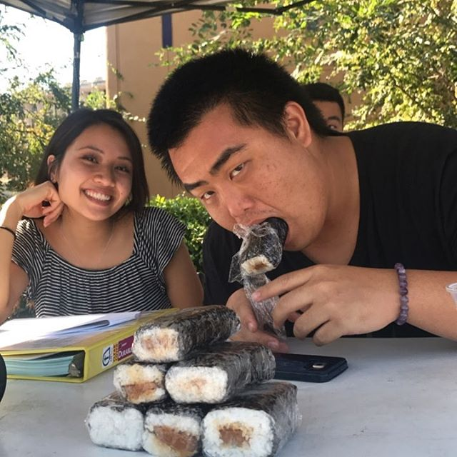 Spam musubi sale on Ring Road! Make your classmates jealous with these bundles of love, caressed in yoshida sauce and filled with a carefully sliced spam. This delicacy is all wrapped up in a fresh sheet of nori and cooked to perfection rice. 1 for $2, 3 for $5! ❤️🔥