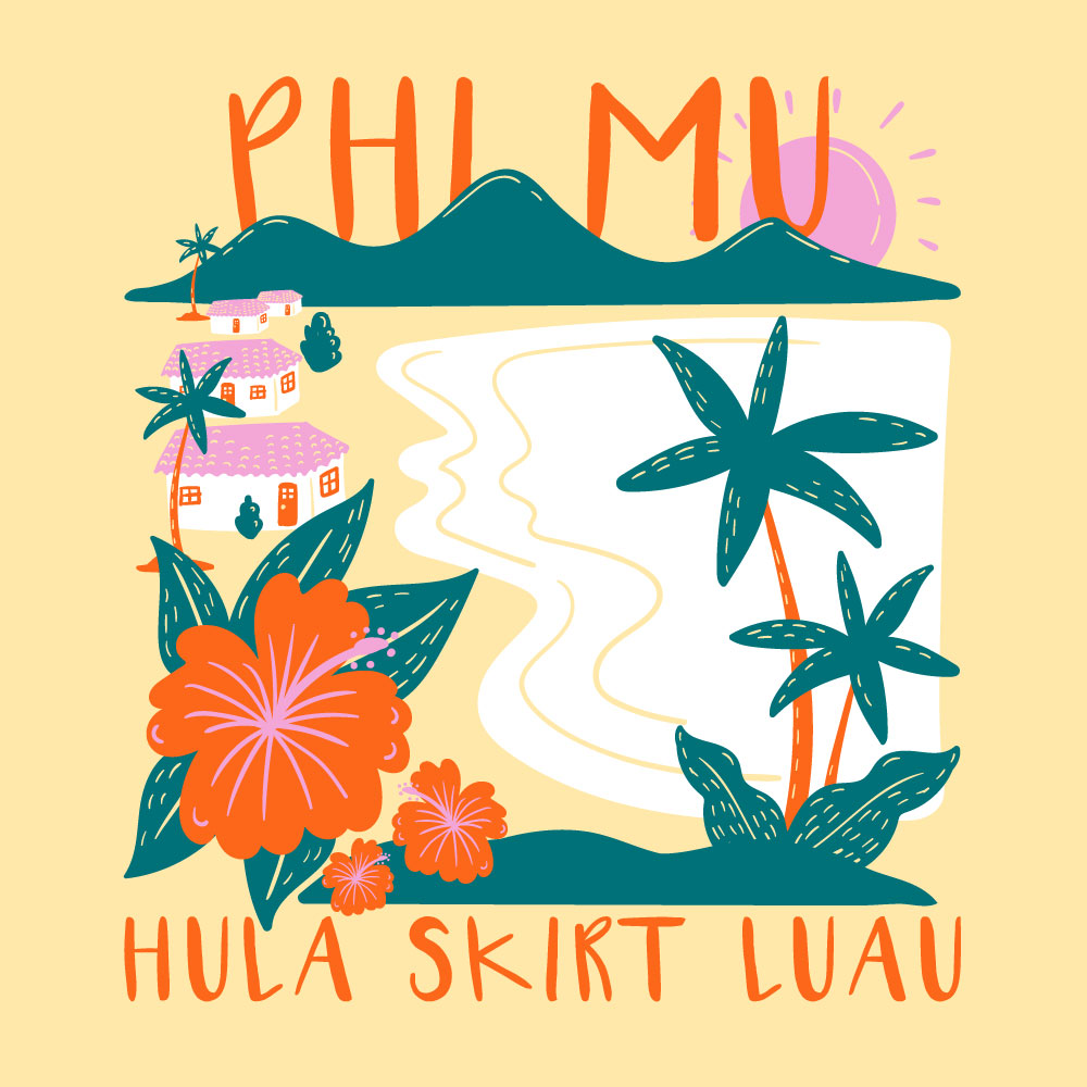 Cuban Luau. Alyssa Moore. T-Shirt Design. Apparel Graphic Design for The Neon South. Adobe Illustrator. Typography. Illustration. Vector illustration.