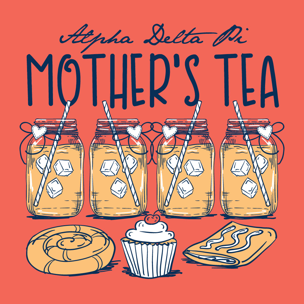 Mother's Tea. Alyssa Moore. T-Shirt Design. Apparel Graphic Design for The Neon South. Adobe Illustrator. Typography. Illustration. Vector illustration.