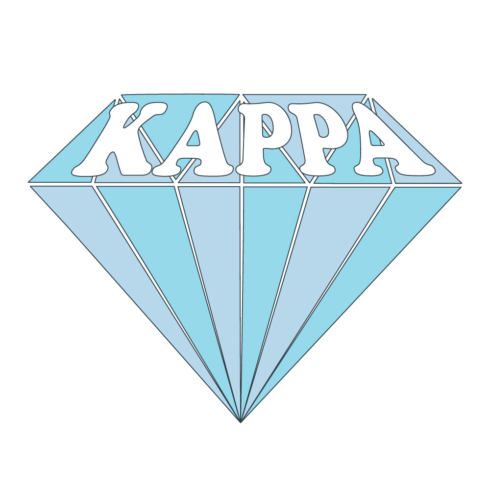 Kappa Diamond. Alyssa Moore. T-Shirt Design. Apparel Graphic Design for The Neon South. Adobe Illustrator. Typography. Illustration. Vector illustration.