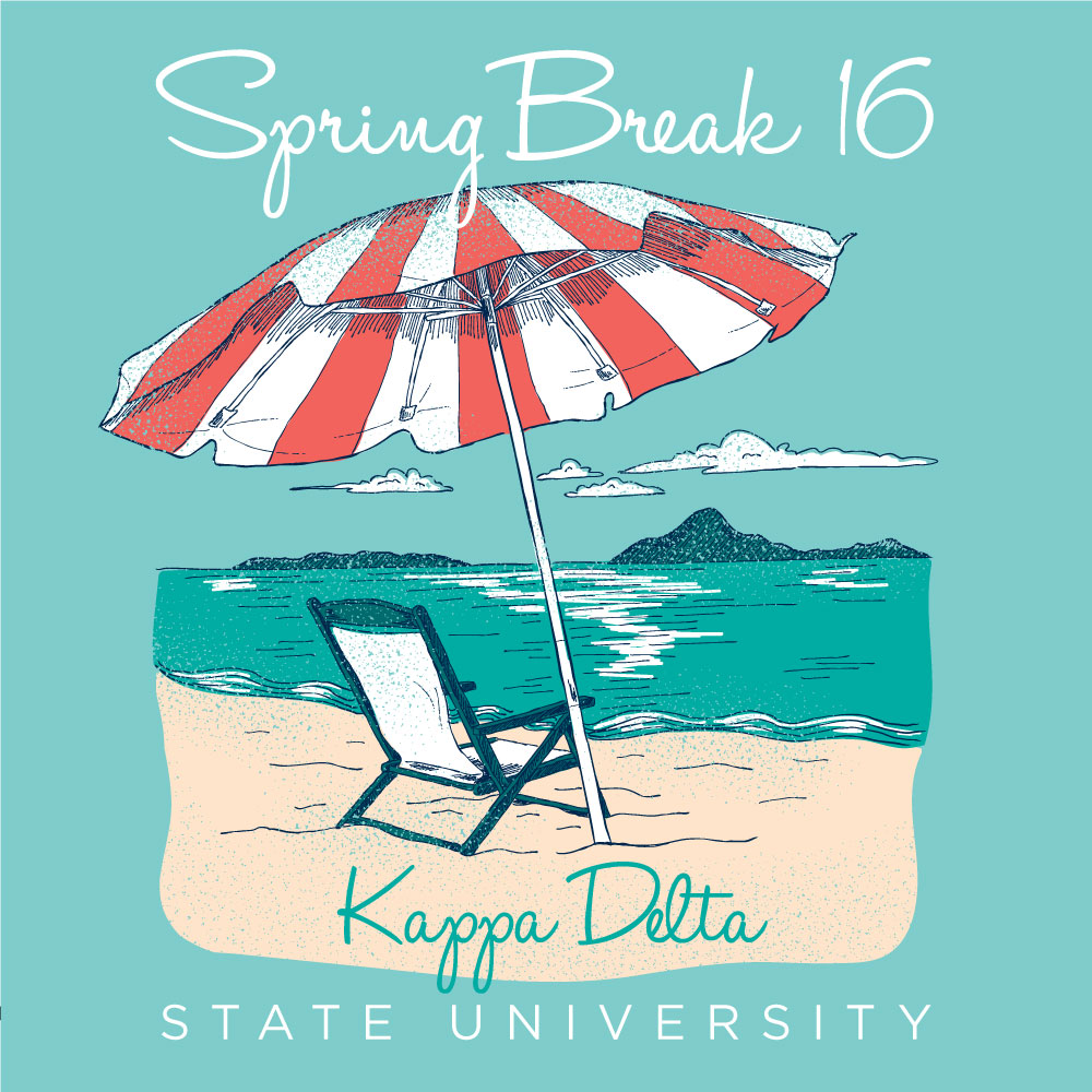 Beach Day. Alyssa Moore. T-Shirt Design. Apparel Graphic Design for Geneologie. Adobe Illustrator. Typography. Illustration. Vector illustration.