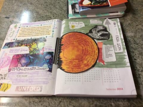 My latest daily habit. Art journaling a little bit each evening.