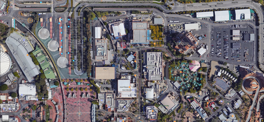 Current long term land available for Marvel Land expansion project.