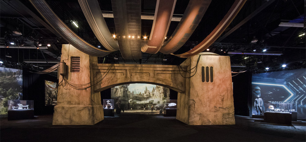 Star Wars Galaxy's Edge Actual Entry Gate And View