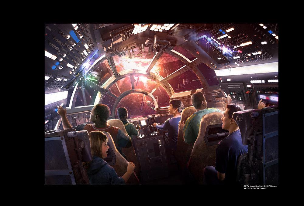 Millenium Falcon Imaginer Preview Artwork