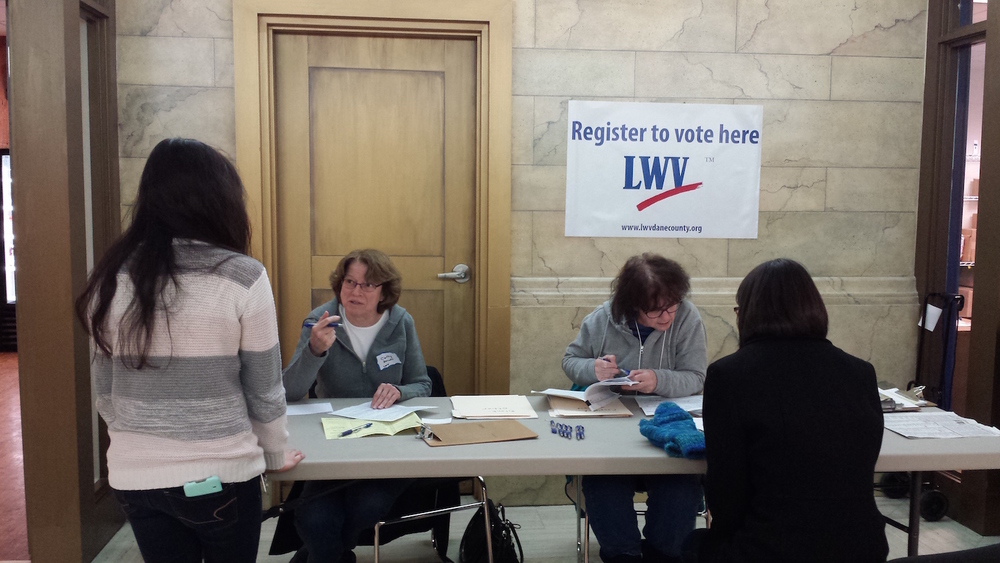 Registering Voters at Epic, 2015