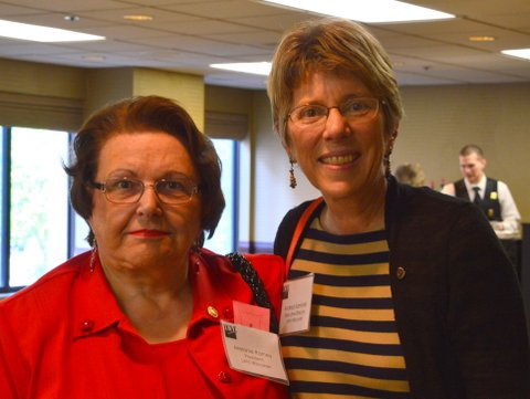 LWVWI President Melanie Ramey and Executive Director Andrea Kaminski