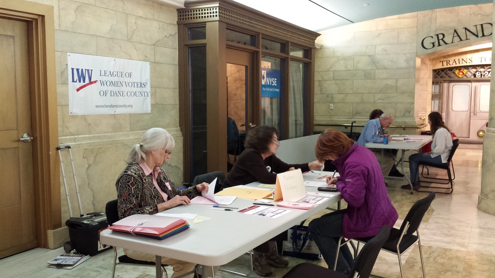 Voter registration at Epic Systems in Verona