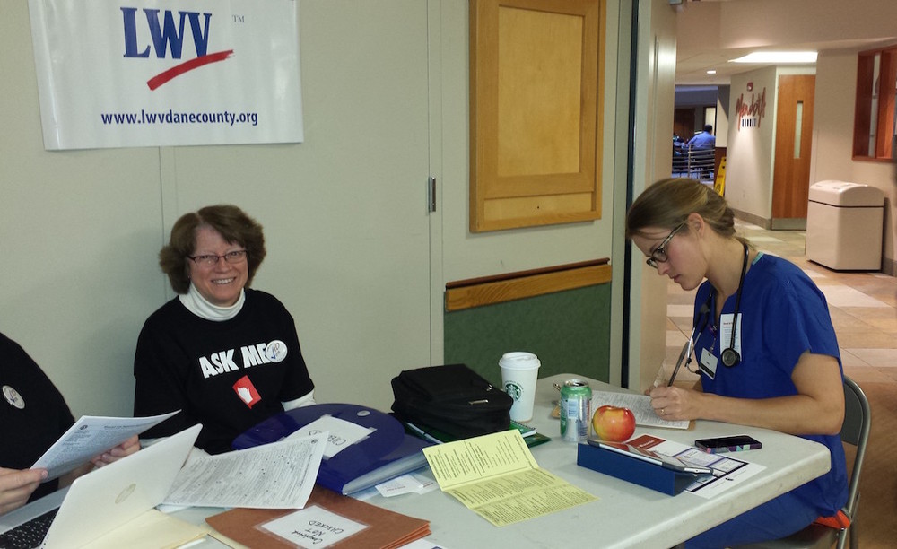 Voter registration at UW Health
