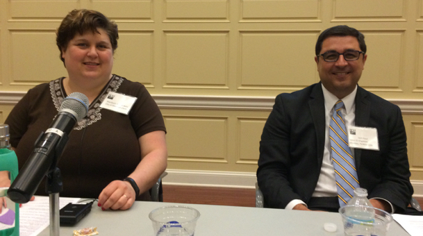 Our panelists: Maribeth Witzel-Behl and Josh Kaul