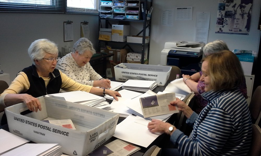 Volunteers mailing Spring 2017 Candidates' Answers
