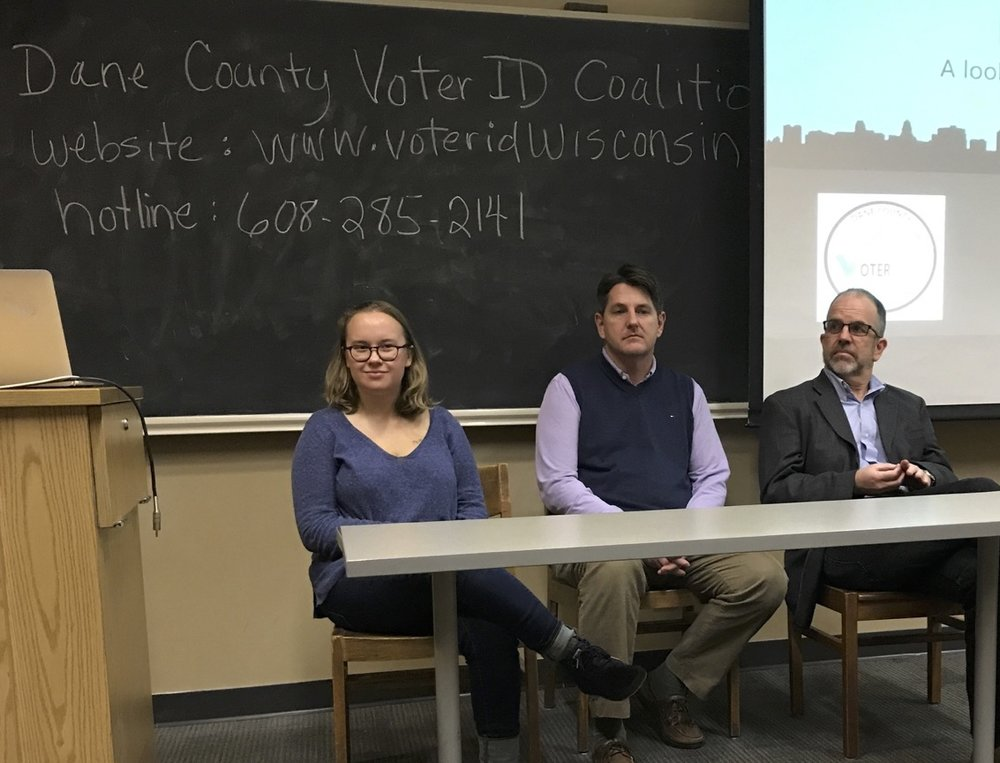 Laurel Noack, Scott McDonell, and Ken Mayer on how Wisconsin's voter ID law suppresses voter turnout, November 7, 2017.