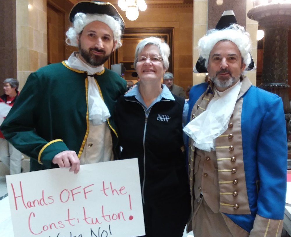 Gail Bliss joins others objecting to the WI Senate vote calling for an Article V Constitutional Convention, November 7, 2017.