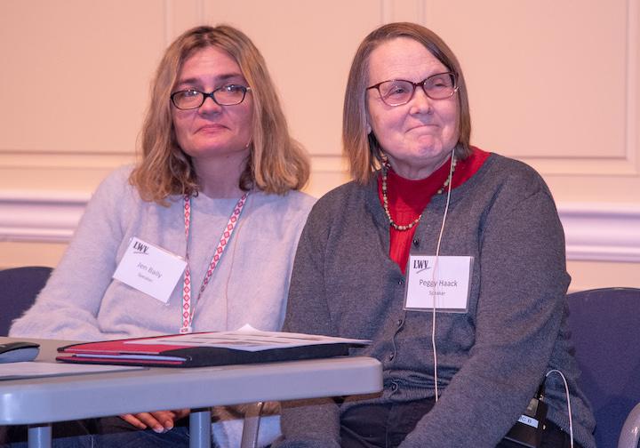 Jen Bailey, Executive Director of REACH Dane Peggy Haack, Outreach Coordinator at WECA