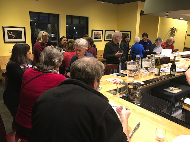 Lively conversation, tasty appetizers, and various adult beverages made for an enjoyable evening.