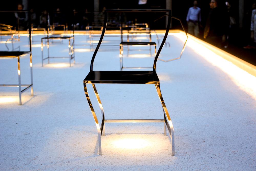 Nendo,  50 manga chairs  . Fuorisalone2016. image©Futurecrafter