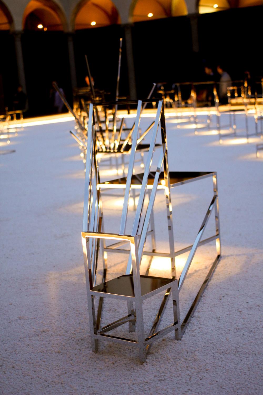 Nendo,50 manga chairs. Fuorisalone2016.
