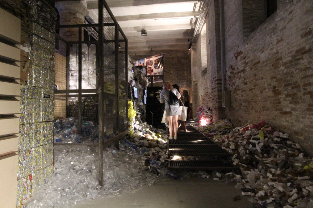 Let's talk about garbage.  Biennale Architettura 2016. Arsenale. Image©Futurecrafter