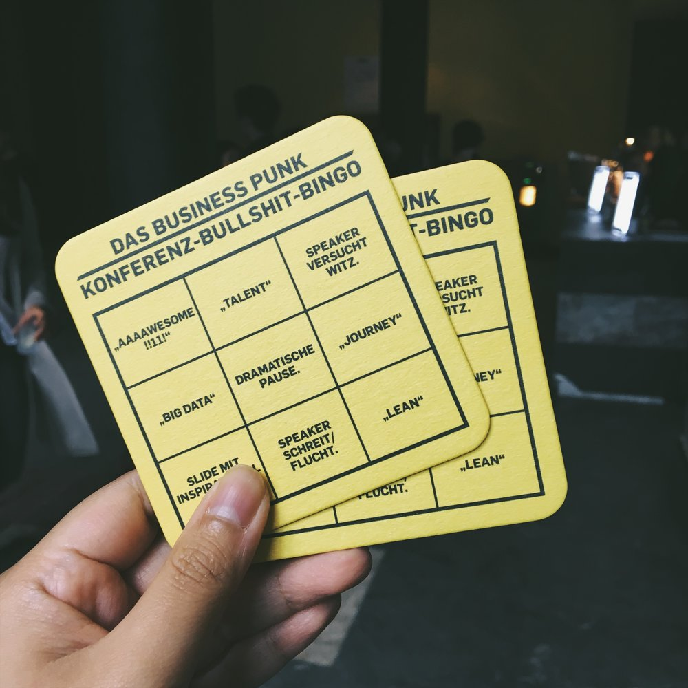 Small bingo business card.