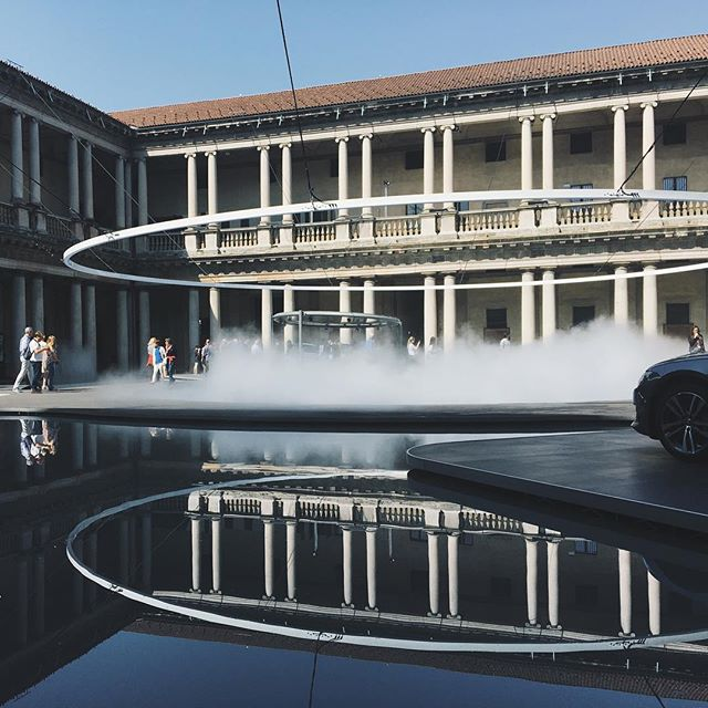 The Fifth Ring at Audi City Lab during Milan Design Week represents the reflections of future and next steps of Audi. Design by @madarchitects . . . . . #milandesignweek #design #salonedelmobile2018 #architecturephotography #salonedelmobile #mdw2018 #milan #fuorisalone2018 #mdw18 #milano #fuorisalone #milandesignboomweek #milanoboom #isaloni2018 #designlovers #luxurycars #architecture #mdw #reflection #milanogram2018 #luxury #art #milanodesignweek2018 #audicitylab #designweek #inspiration #designer #exteriordesign #exhibition #italy