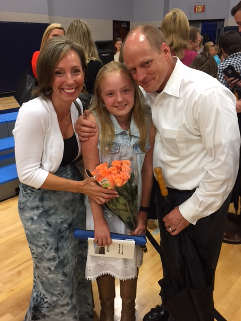 "Mia is ""moving on"" to middle school! June, 2016"