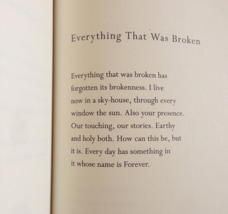 "© the brilliant mary oliver, from ""Felicity"""