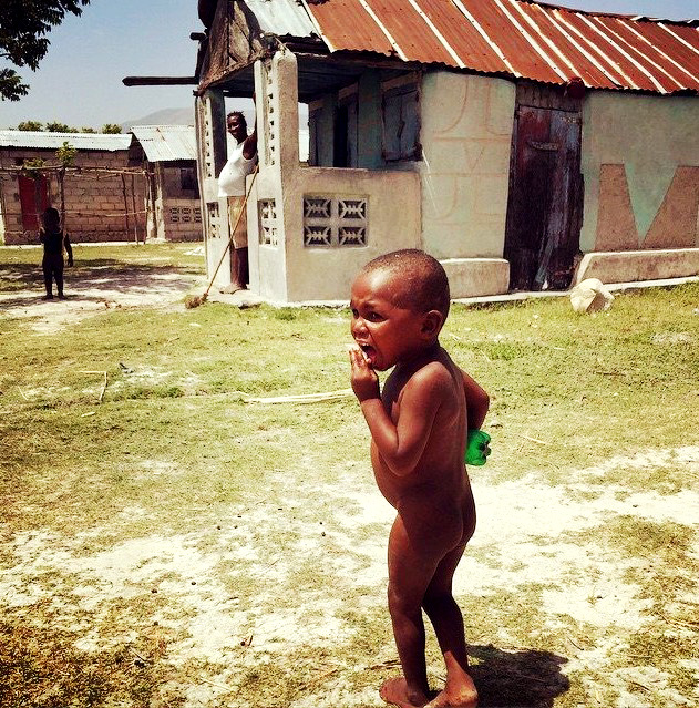 Diaperless Haitian Kid
