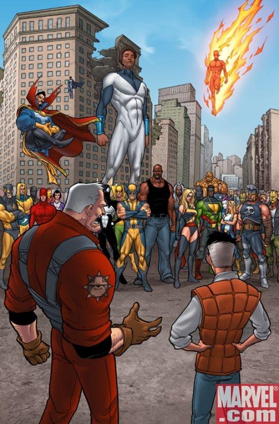 Damage Control in action after a super-battle. Credit: Marvel.com
