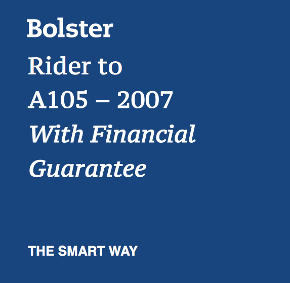 Bolster Rider to A105 - 2007 With Financial Guarantee
