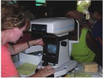 Honduran roads and humidity were to extreme for tabletop autorefractors and puff air tonometers