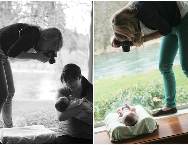 photographing newborn