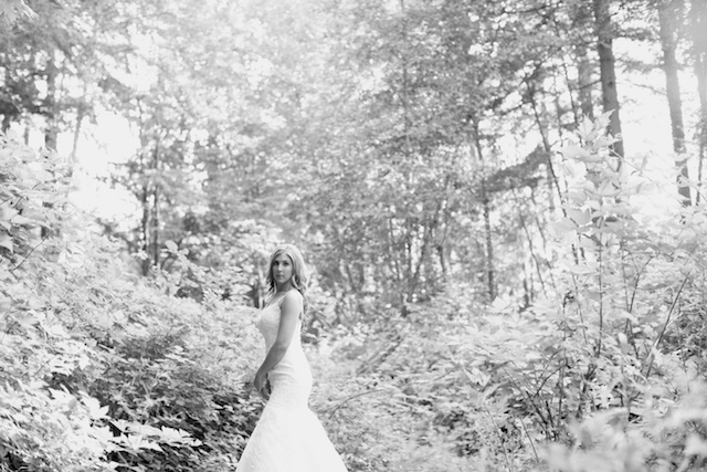 Seattle Wedding photographer bridal portraits woods trees bride rachael kruse photography photos 2 (1)