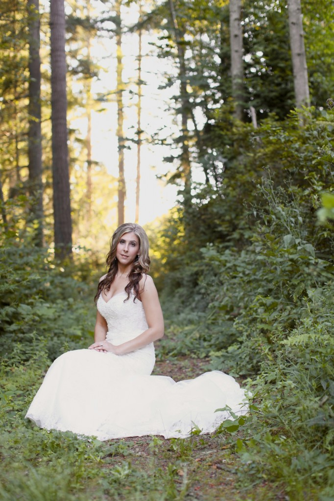 Seattle Wedding photographer bridal portraits woods trees bride rachael kruse photography photos 6