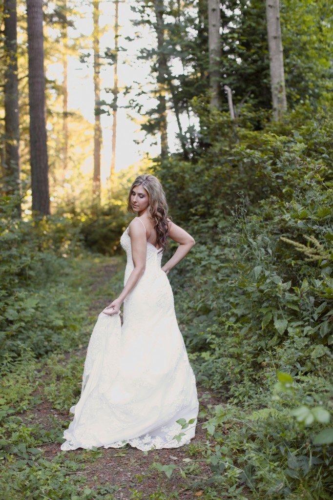Seattle Wedding photographer bridal portraits woods trees bride rachael kruse photography photos 8