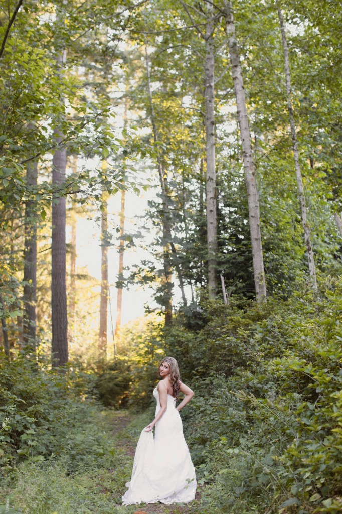 Seattle Wedding photographer bridal portraits woods trees bride rachael kruse photography photos 9