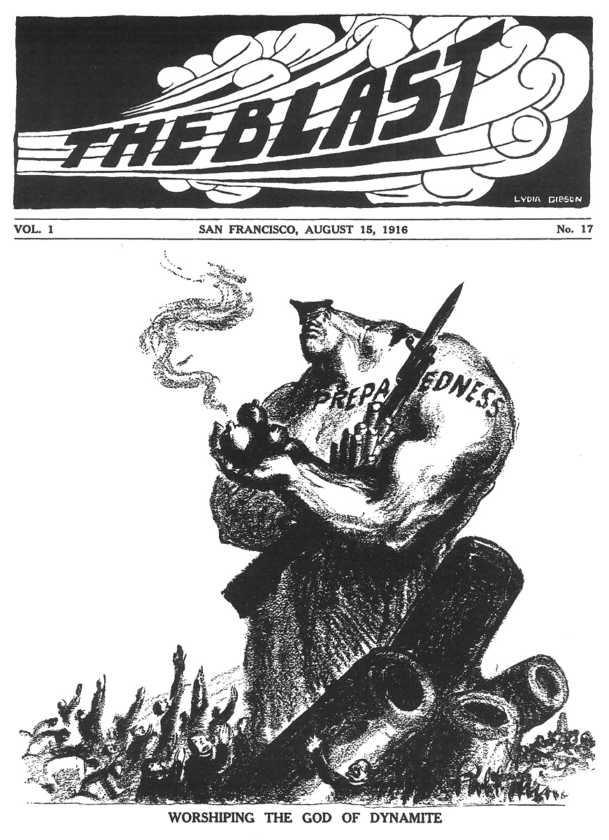 "Robert Minor, ""The God of Dynamite,"" The Blast, August 15, 1916."