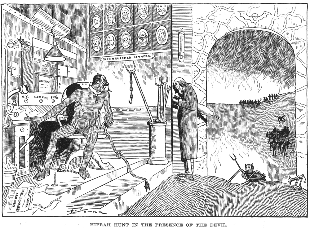 Hiprah Hunt visits Satan's new office in 1901.