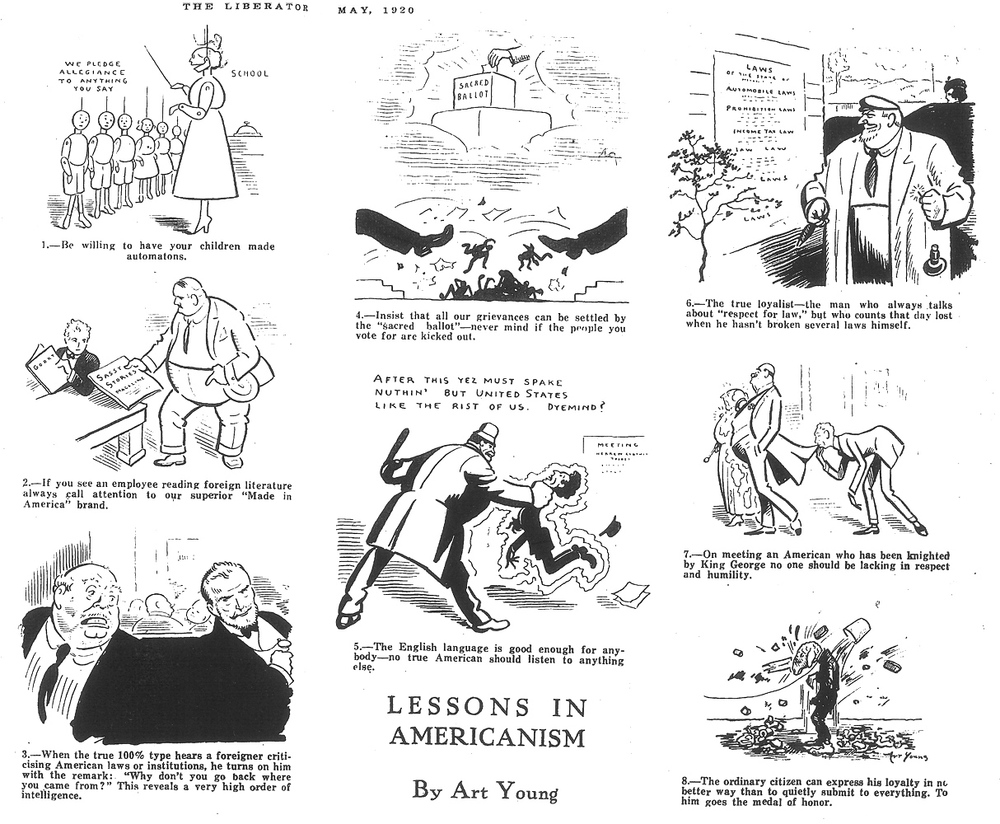 Art Young,  The Liberator , May 1920.    Click images to enlarge.
